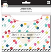 "The Happy Planner® 6""H x 6""W Adhesive Pockets, Multi Dot (PAP-01)"