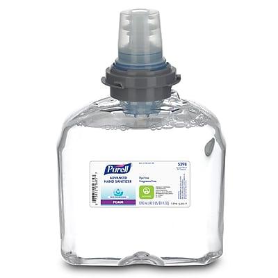 PURELL® Advanced Hand Sanitizer Skin Nourishing Foam, Fragrance Free, TFX, 1200 mL, 2/Carton (5398-02)
