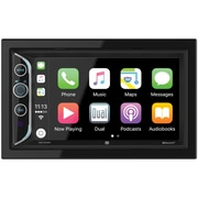 "Dual 6.2"" Double-DIN In-Dash Mechless AM/FM Receiver with Bluetooth & Apple CarPlay(DAC1025BT)"