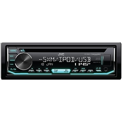 JVCM Single-DIN In-Dash AM/FM CD Receiver with Bluetooth & SiriusXM Ready (JVCKDR690S)(KD-R690S)