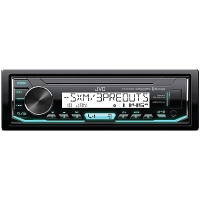 JVCM Marine/Motorsports Single-DIN In-Dash AM/FM Digital Media Receiver with Bluetooth & SiriusXM Ready(KD-X35MBS)