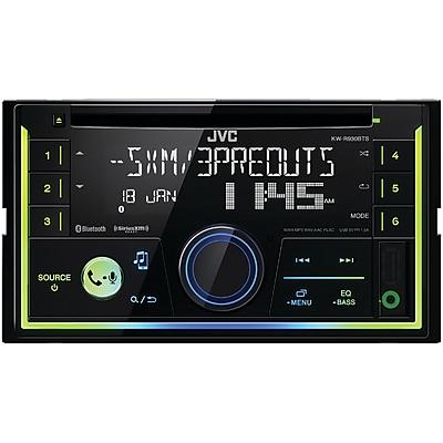 JVCM Double-DIN In-Dash AM/FM CD Receiver with Bluetooth & SiriusXM Ready (JVCKWR930BTS)(KW-R930BTS)