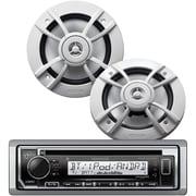 "KENWOOD Marine Retail Pack w/ Single-DIN In-Dash Marine CD Receiver w/ Bluetooth & SiriusXM Ready plus 6.5"" 2Way Marine Speakers"