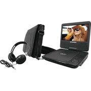 "Sylvania 9"" Swivel-Screen Portable DVD Player with Carry Bag & Headphones(SDVD9060-COMBO-BLACK)"