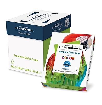 Hammermill® Paper, Premium Color Copy Printer Paper, 100 Bright, 28lb, 8.5x11, Letter, 2500 Sheets/5 Ream Case (102450C)