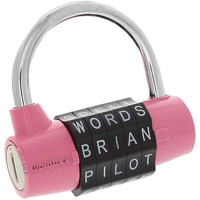 WordLock PL-001-PK 5-Dial Combination Padlock (Pink) (HBCLPL001PK)