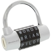 WordLock PL-003-SL 5-Dial Combination Padlock (Silver) (HBCLPL003SL)