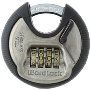 WordLock PL-074-SN 4-Dial Combination Discuss Padlock (HBCLPL074SN)
