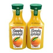 Simply Orange Juice Pulp Free, 52 oz., 2/Pack (902-00102)