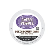 Coffee People® Deliciously Dark Coffee, Keurig® K-Cup® Pods, Dark Roast, 24/Box (5000202780)