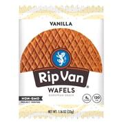 Rip Van Wafels® Non-GMO European Snack, Madagascar Vanilla, 12/Pack (RVW00384)