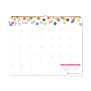 "2018-2019 Blue Sky 15""H x 12""W Monthly Wall Calendar Ampersand Collection (107947-A19)"