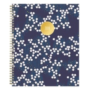 "2019 Day Designer Planner, Gold Diamonds Clear PVC 8.5""H x 11""W RY Monthly Stapled (109243)"