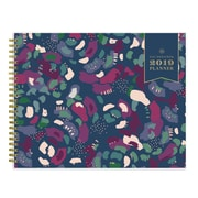 2019 Day Designer Planner Abstract Floral PP 10x8 RY Horizontal Monthly Wirebound (109228)