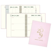 "2019 Emily + Meritt Weekly/Monthly Planner, 12 Months, January Start, 4 7/8"" x 8"", Pink (EM103-805-19)"