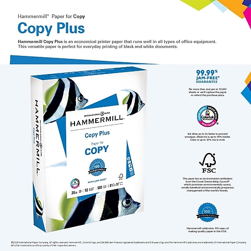 Hammermill copy plus copy paper 8 12 x 11 ream staples httpsstaples 3ps7is wajeb Choice Image