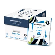 "HammerMill® Copy Plus Copy Paper, 20 Lb., 92 Bright, 8 1/2"" x 11"", White, 10-Ream Case"