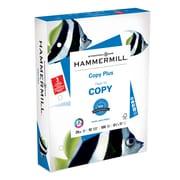 "Hammermill Copy Plus 3 Hole Punch Copy Paper, 8-1/2"" x 11"", 92 Bright, 20 LB, 500 Sheets"