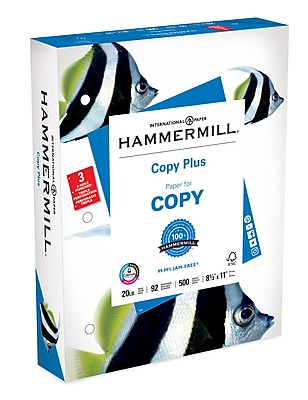 Hammermill Copy Plus 3 Hole Punch Copy Paper, 8-1/2