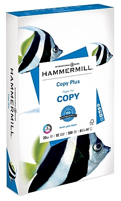 Hammermill Copy Plus Legal Copy Paper, 8-1/2