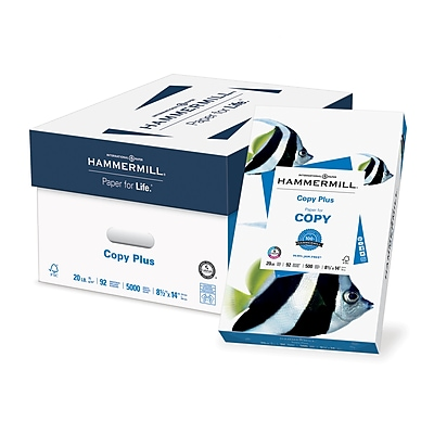 HammerMill® Copy Plus Copy Paper, 20 Lb., 92 Bright, 8 1/2