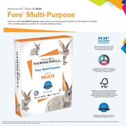 Hammermill® Fore® MP Multipurpose Paper, 8 1/2 x 11, 24 LB, White, 5000/Carton (10328-3)