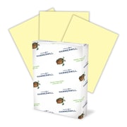 """Hammermill Fore MP Color Paper, 8 1/2"""" x 11"""", LETTER-Size, 3-Hole Drilled, 20 lb., Canary (102921)"""
