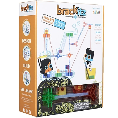 Brackitz Pulleys Plastic Building Set, 77 pieces