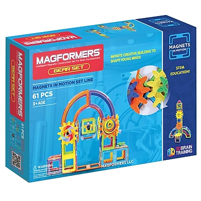 Magformers Magnets in Motion Plastic Gear Set, 61 pieces (MGF63205)