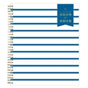 "2018-2019 Day Designer for Blue Sky 8"" x 10"" Monthly Planner, Navy Thin Stripe (108333)"