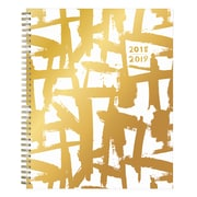 """2018-2019 Ampersand for Blue Sky 8.5"""" x 11"""" Weekly/Monthly Planner, Gold Brushstrokes (108357)"""