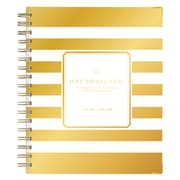 "2018-2019 Day Designer for Blue Sky 6"" x 8"" Weekly/Monthly Planner, Gold Stripe (108321)"