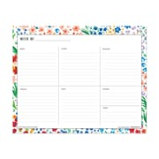 "Non-Dated Blue Sky 10"" x 8"" Planning Pad. Ditsy Dapple Floral (108640)"