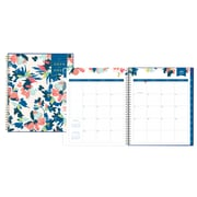 "2018-2019 Day Designer for Blue Sky 8"" x 10"" Monthly Planner, Carrie Floral (108311)"