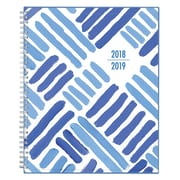 "2018-2019 Blue Sky 8.5"" x 11"" Weekly/Monthly Planner, Crosshatch (108627)"