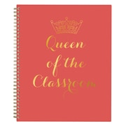"""2018-2019 Blue Sky 8.5"""" x 11"""" Weekly/Monthly Planner, Queen of the Classroom (108635)"""