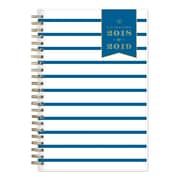 "2018-2019 Day Designer for Blue Sky 5"" x 8"" Weekly/Monthly Planner, Navy Thin Stripe (108331)"