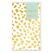 "2018-2019 Day Designer for Blue Sky 3.625"" x 6.125"" Monthly Planner, Gold Spotty (108328)"