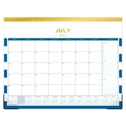 "2018-2019 Day Designer for Blue Sky 22"" x 17"" Monthly Desk Pad, Deep Blue Stripe (108325)"