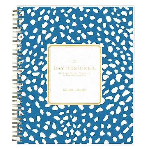 2018 2019 day designer for blue sky 8 x 10 daily monthly planner