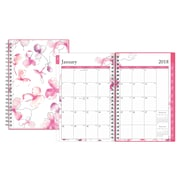 """2018 Blue Sky 5""""H x 8""""W Planner BCA Orchid Weekly/Monthly Wirebound (103716)"""