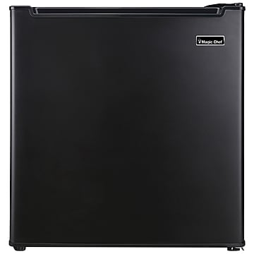 Magic Chef 1.7 Cubic-ft Manual Defrost Refrigerator, Black (MCR170BE),Size: small