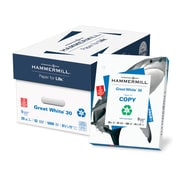 Hammermill® Great White 3-Hole Punched Recycled Copy Paper, White, 5000/Ctn
