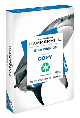 Hammermill Great White Recycled Copy Paper, 11