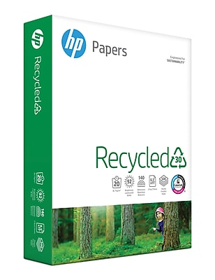 HP Recycled Copy Paper, 8-1/2