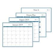 "2019 Blue Sky 15""H x 12""W Laminated Wall Calendar, Professional (110618)"