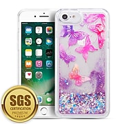 SumacLife Sparkling Cascading Waterfall Protective Case for iPhone 8 / 7, Butterfly (APLSKN809)