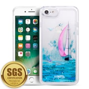 SumacLife Sparkling Cascading Waterfall Protective Case for iPhone 8 / 7, Sail Boat (APLSKN808)