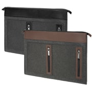 Vangoddy 2 Pack Slim Light weight Sleeve Case for 16-17 Inch Laptop, Black and Brown (PT_000001152)