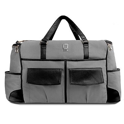 SumacLife Luggage Duffel Travel Carry-on Bag Fits up to 15.6 Inch Laptop, Grey (PT_NBKLEA814_DF)